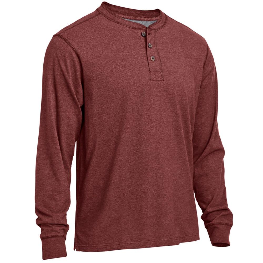 RUGGED TRAILS Men's Sueded Henley Shirt - PORT HEATHER