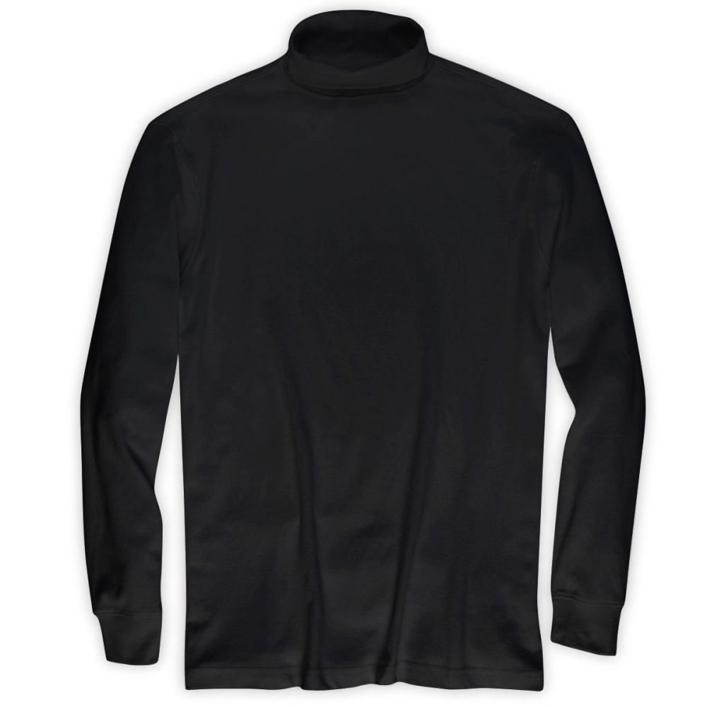 RUGGED TRAILS Men's Turtleneck Shirt - BLACK