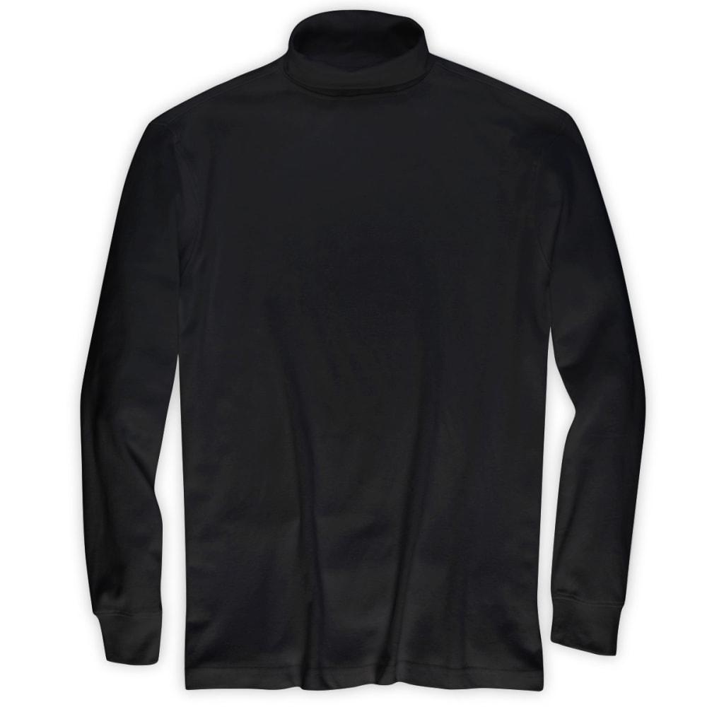 RUGGED TRAILS Men's Turtleneck Shirt - BLACK