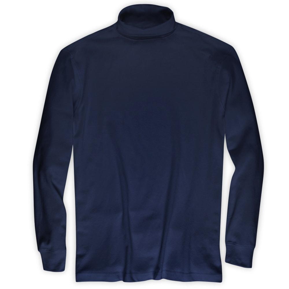 RUGGED TRAILS Men's Turtleneck Shirt - NAVY