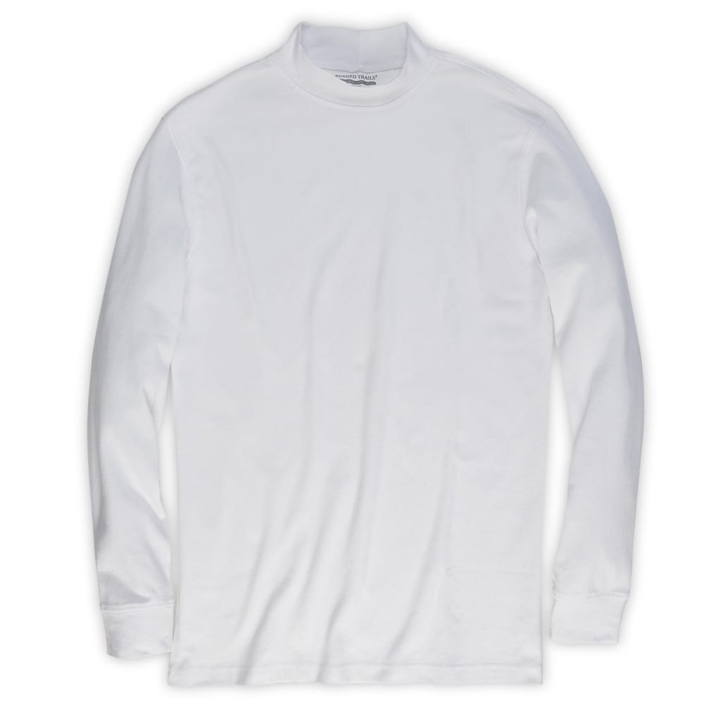 RUGGED TRAILS Men's Mockneck Shirt - WHITE