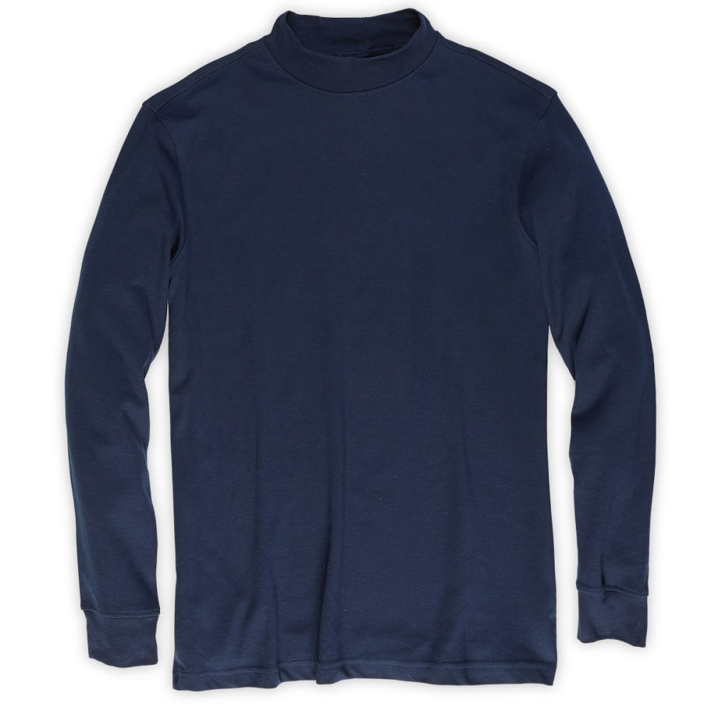 RUGGED TRAILS Men's Mockneck Shirt - NAVY