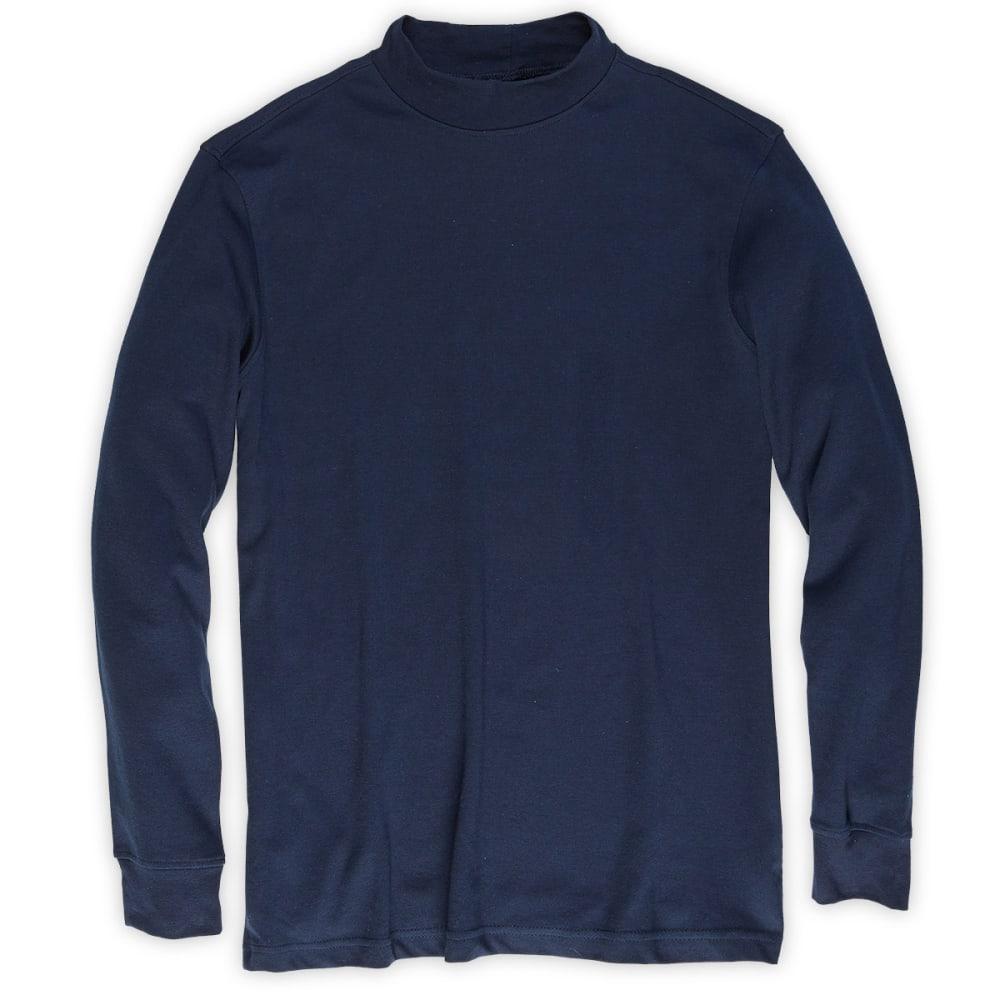 RUGGED TRAILS Men's Mockneck Shirt - NAVY