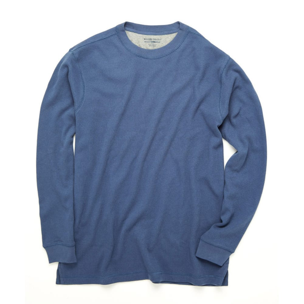 RUGGED TRAILS Men's Thermal Crew Neck Shirt - INSIGNIA BLUE