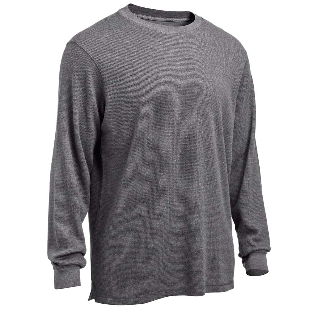 RUGGED TRAILS Men's Thermal Crew Neck Shirt - ROCK HEATHER