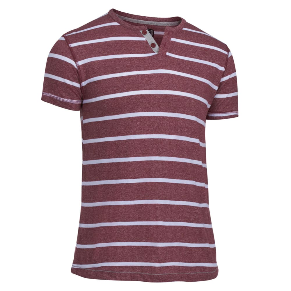 COUNTER INTELLIGENCE Guys' Marled Striped Knit Tee - SYRAH