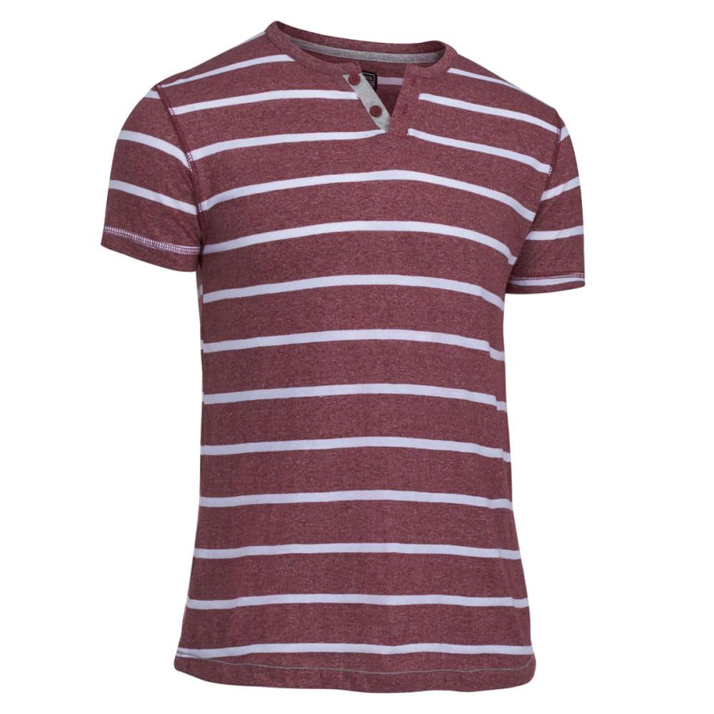 COUNTER INTELLIGENCE Guys' Marled Striped Knit Tee - SYRAH
