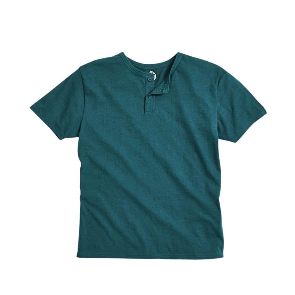 D55 Young Men's Henley Knit Shirt - TEAL