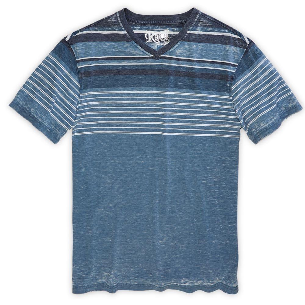 RETROFIT Guys' Striped V-Neck Tee - DRESS BLUE