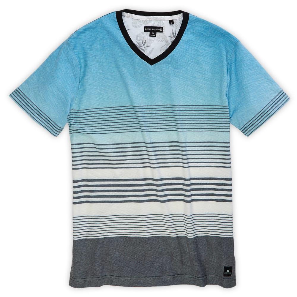 OCEAN CURRENT Men's Atmosphere Stripe Short-Sleeve Knit Tee - OCEAN BLUE