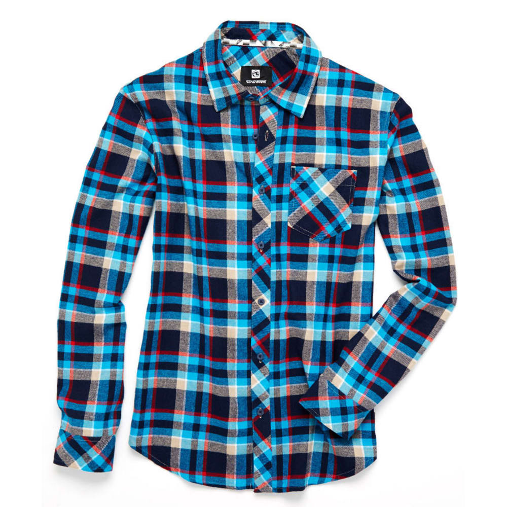OCEAN CURRENT Guys' Civilian Flannel - TURQUOISE