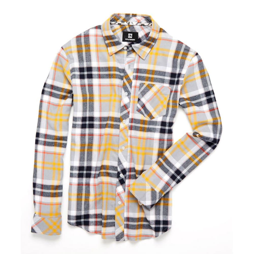 OCEAN CURRENT Guys'  Plaid Flannel Shirt - GREY