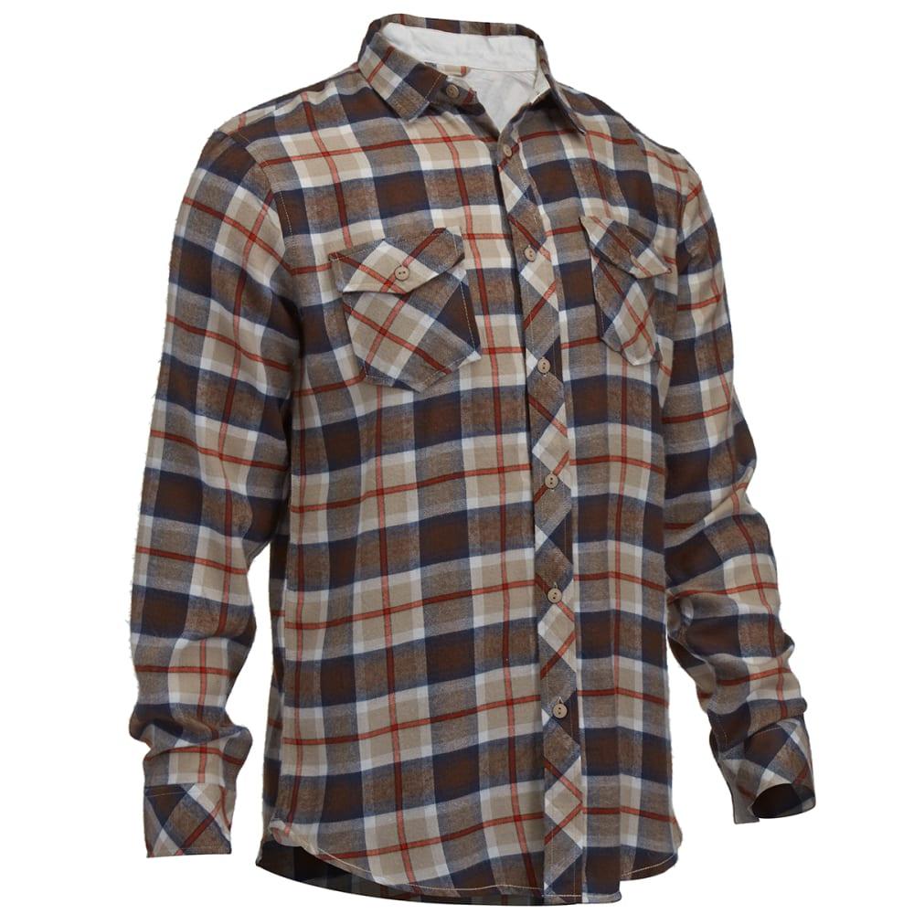 BURNSIDE Guys' Flannel Shirt - LIGHT BROWN