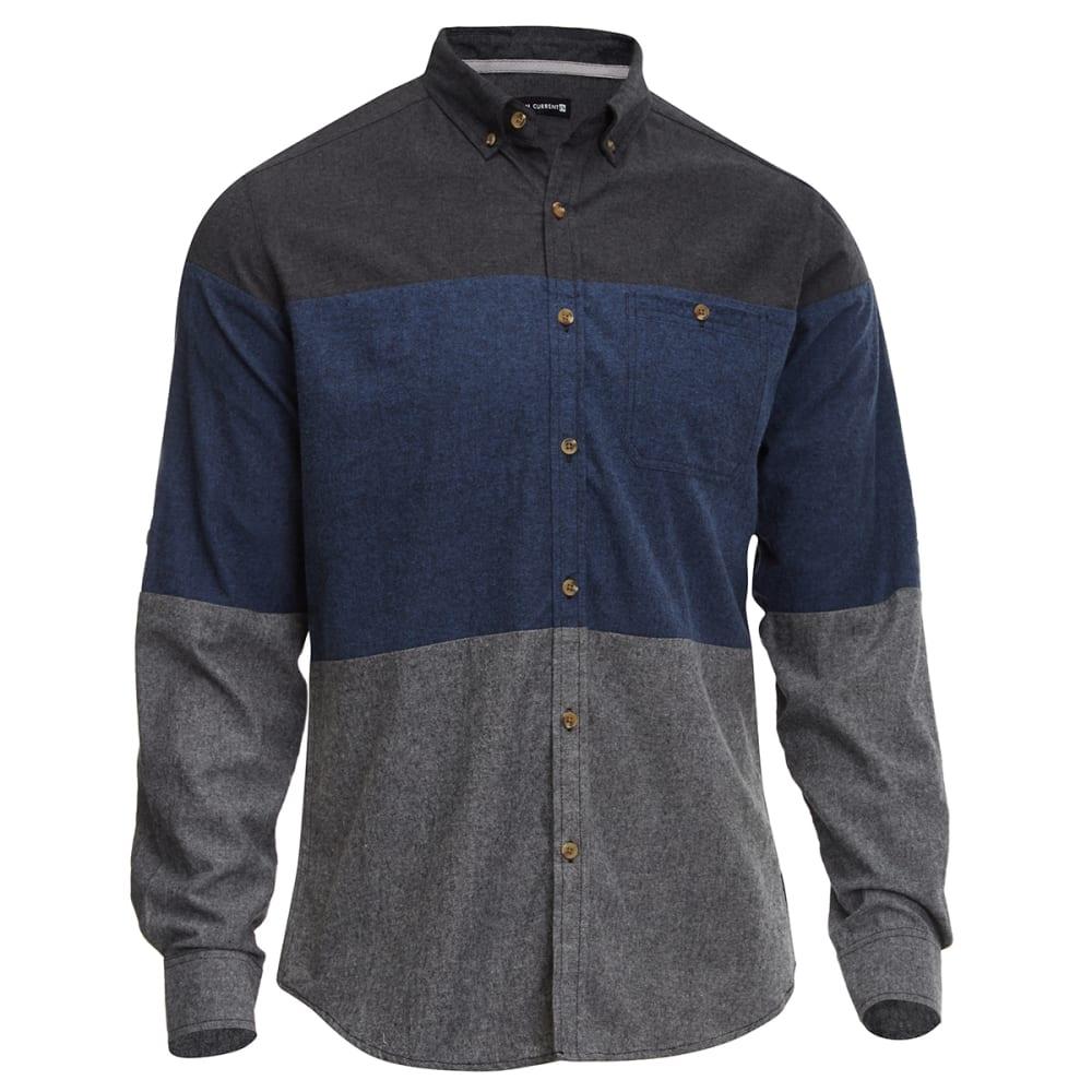 OCEAN CURRENT Men's Flannel Shirt - INDIGO BLUE