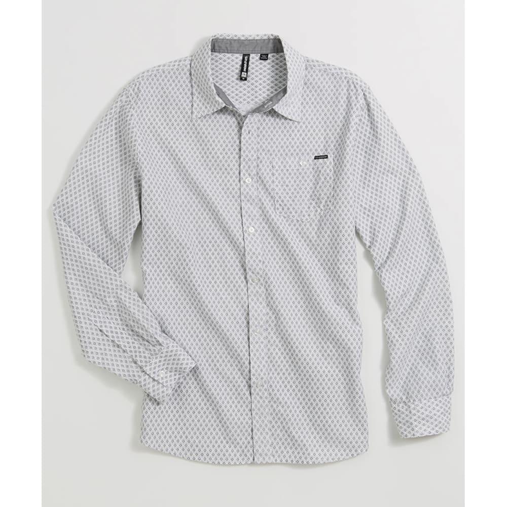 OCEAN CURRENT Young Men's Quadrant Woven Shirt - WHITE