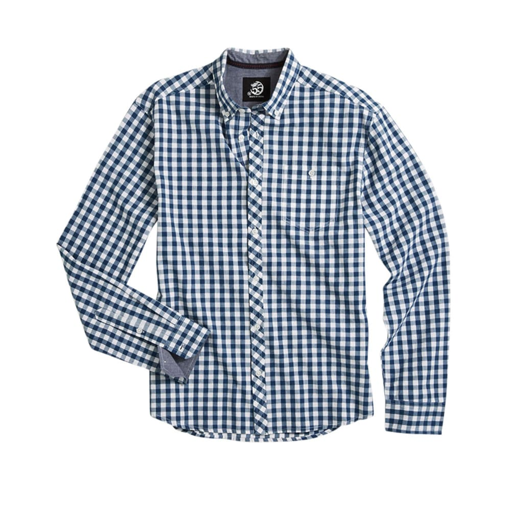 D55 Guys' Gingham Shirt - SEA BLUE