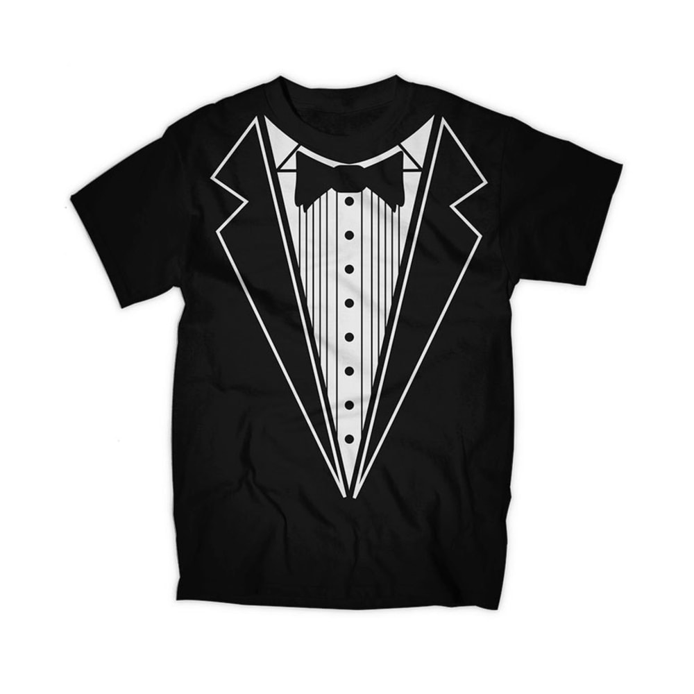 TRAU &amp: LOEVNER Young Men's Tux Screen Tee - BLACK
