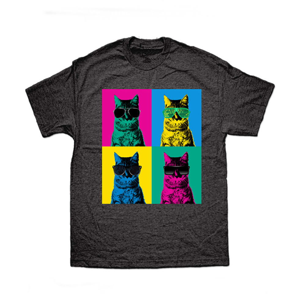 COOL CATS Guys' Graphic Tee - BLOWOUT - CHARCOAL HEATHER