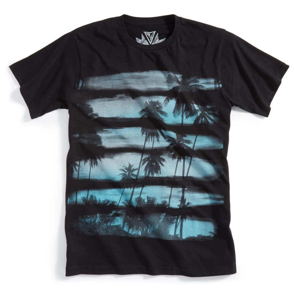 OCEAN CURRENT Men's Sunset Stripe Tee - BLACK