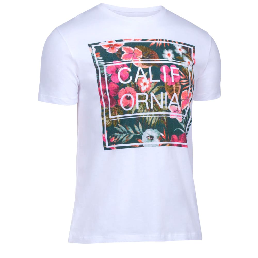 OCEAN CURRENT Guys' California Grown Tee - WHITE/PERIWINKLE