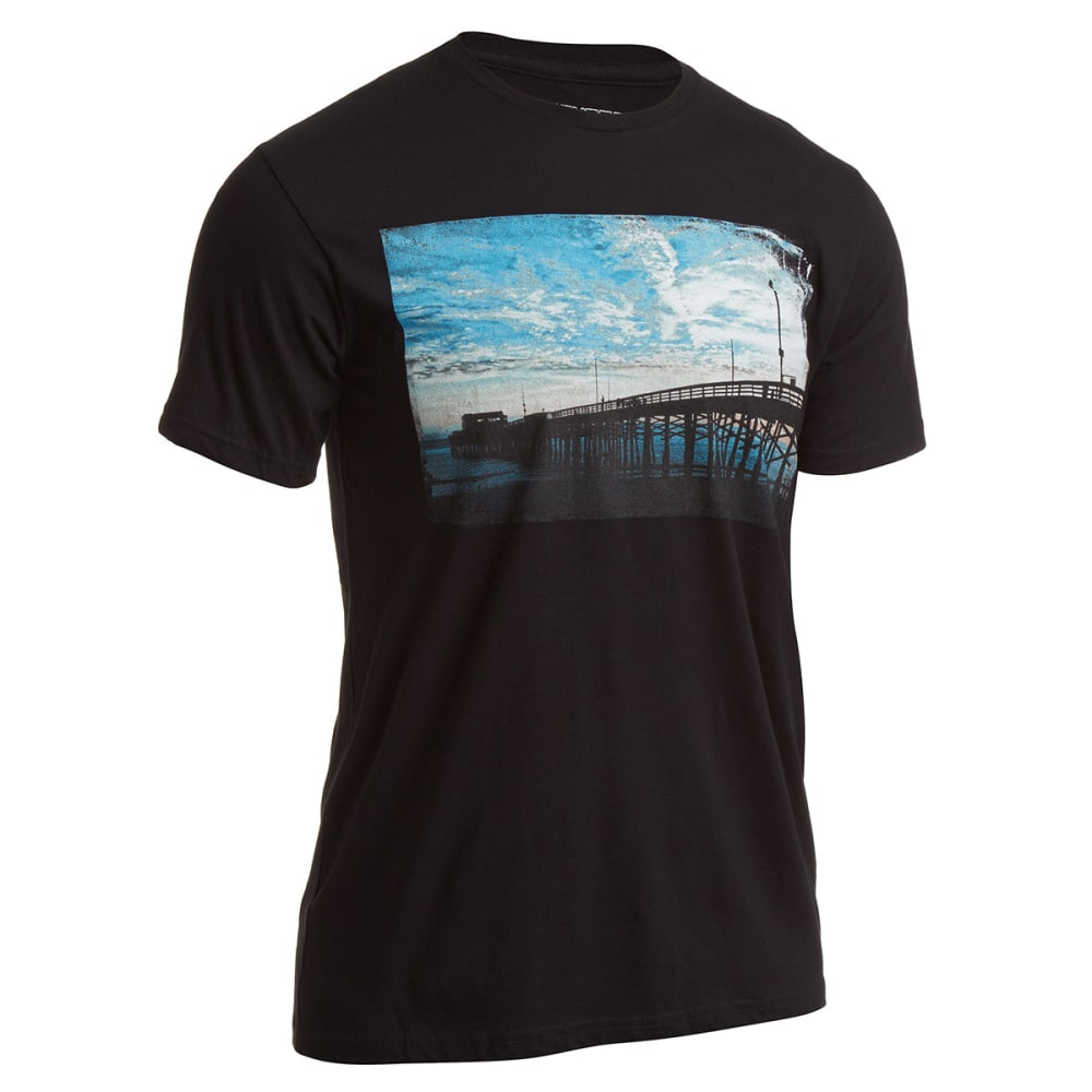 OCEAN CURRENT Guys' Take A Walk Pier Tee - BLACK