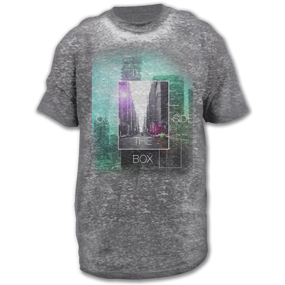 HYBRID Guys' Outside Of The Box Burnout Graphic Tee - CHARCOAL