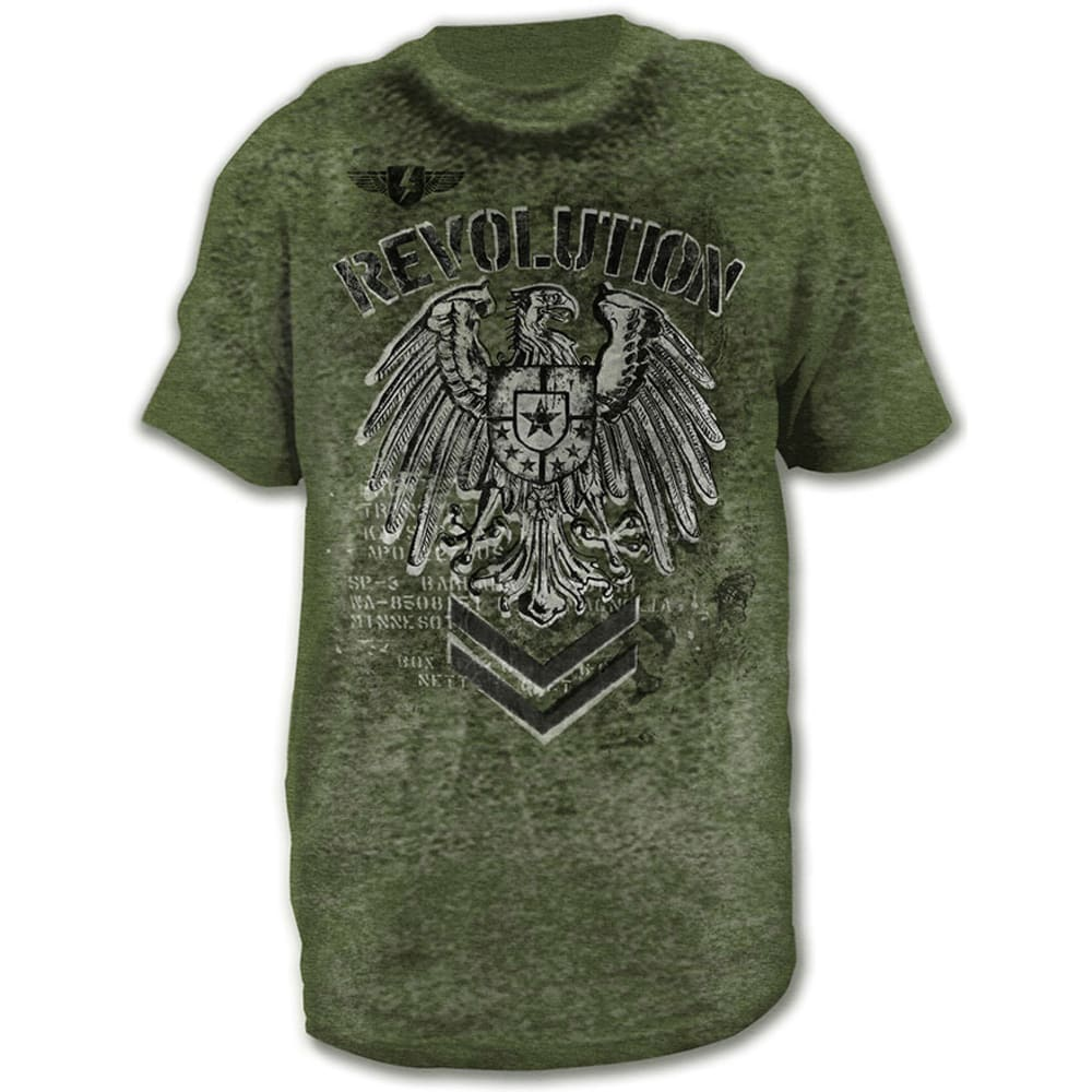 HYBRID Guys' Revolution Burnout Graphic Tee - SAGE