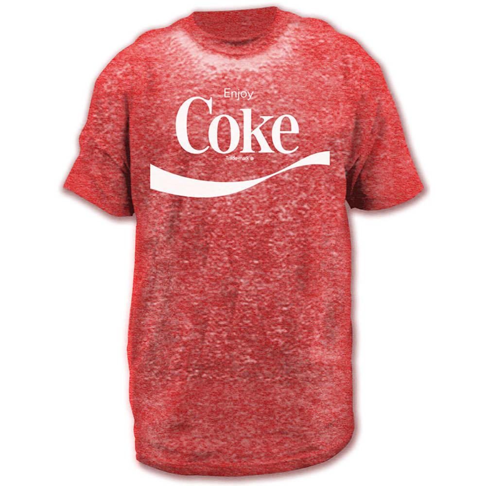 HYBRID Guys' Enjoy Coke Logo Burnout Graphic Tee - RED
