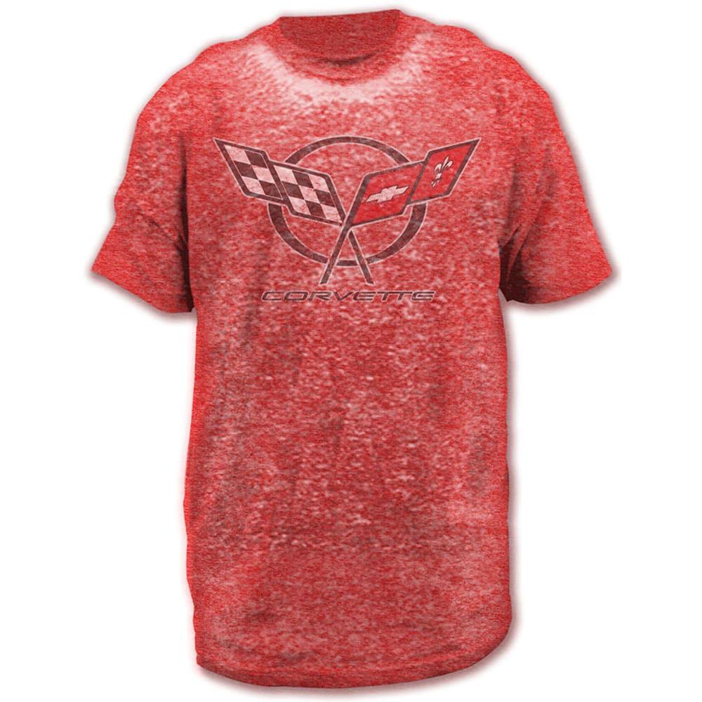 HYBRID Guys' Corvette Retro Burnout Graphic Tee - RED