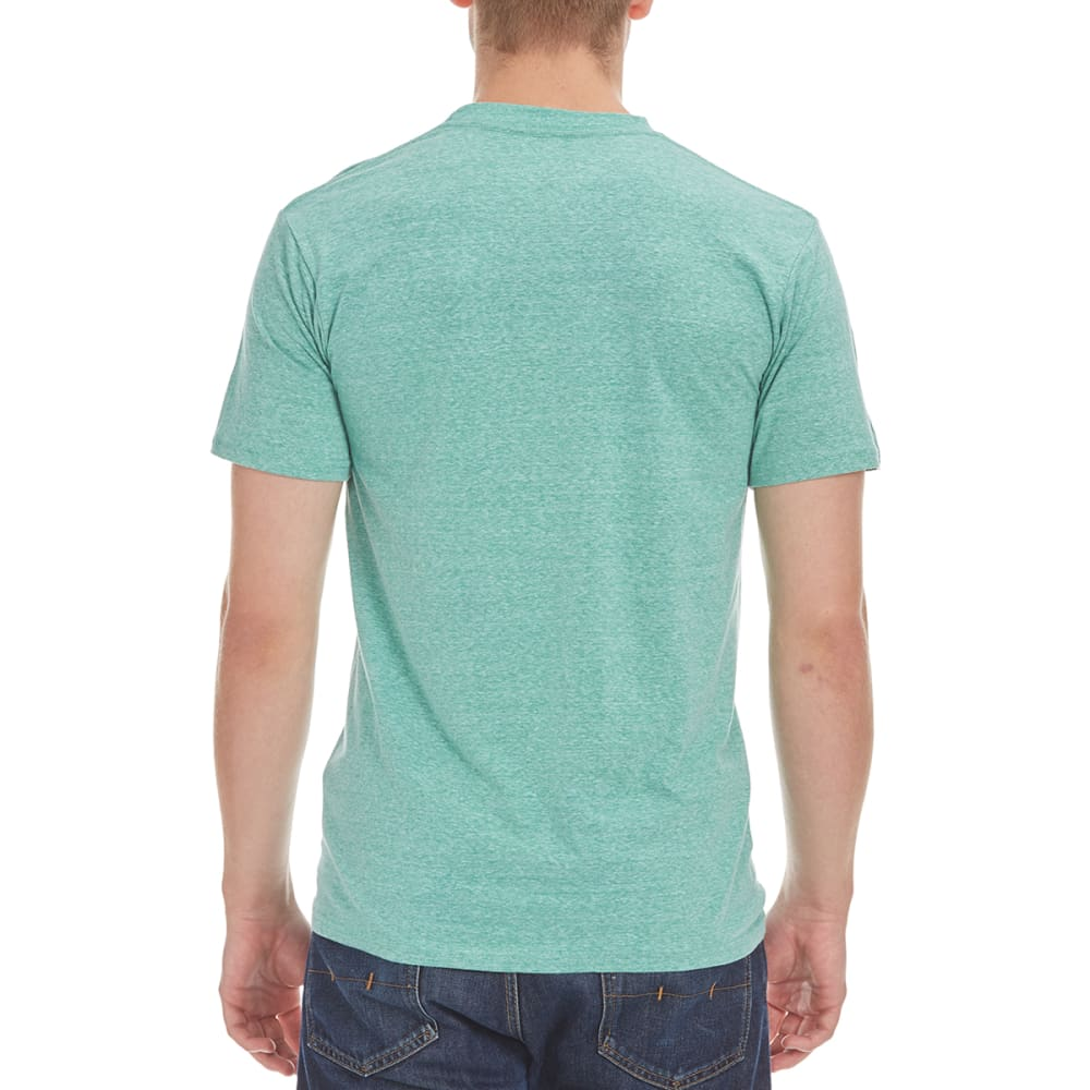 MOUNTAIN DEW Young Men's Logo Graphic Tee - GREEN HEATHER