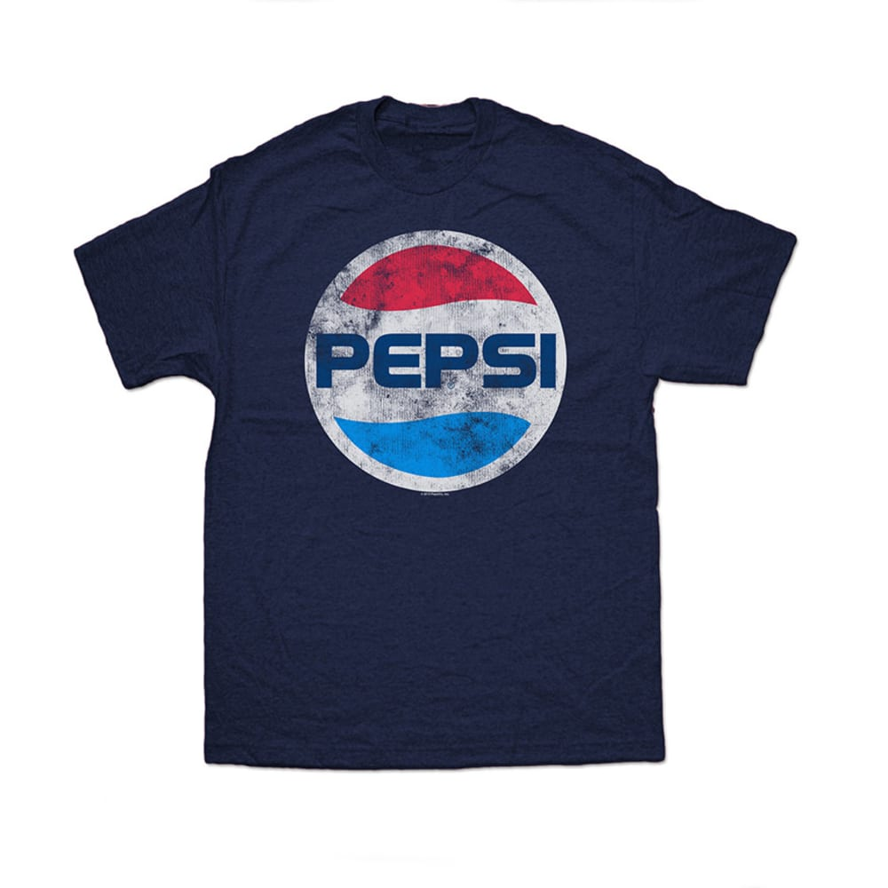 PEPSI Guys' Graphic Logo Tee - BLOWOUT - NAVY HEATHER