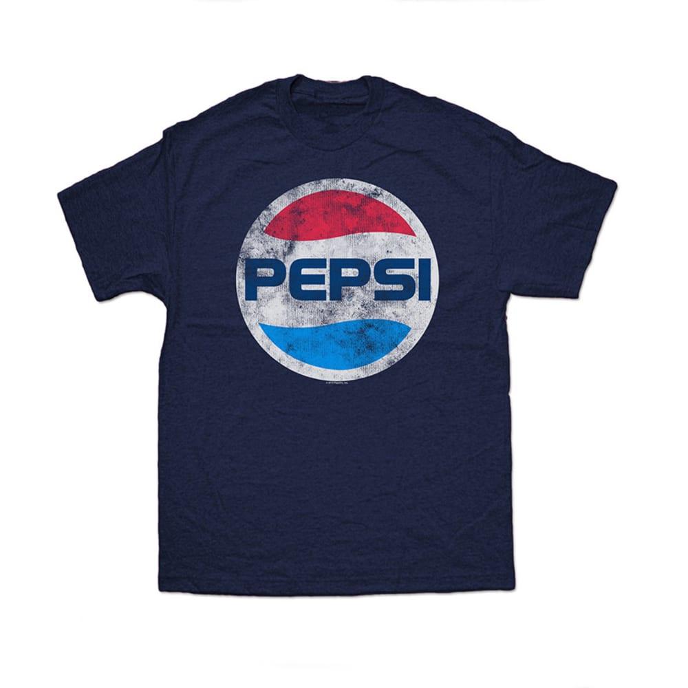 PEPSI Guys' Graphic Logo Tee- BLOWOUT - NAVY HEATHER
