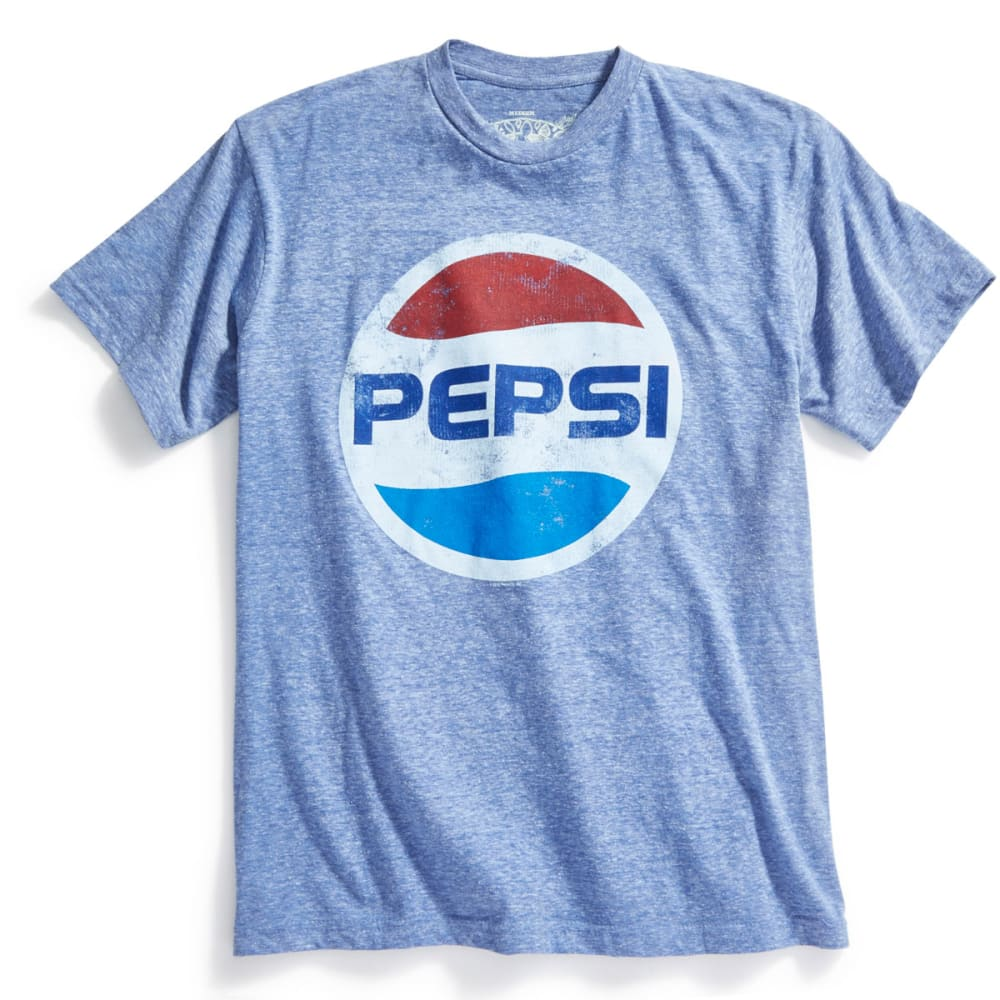 PEPSI Guys' Graphic Logo Tee - BLOWOUT - BLUE SNOW WTHR