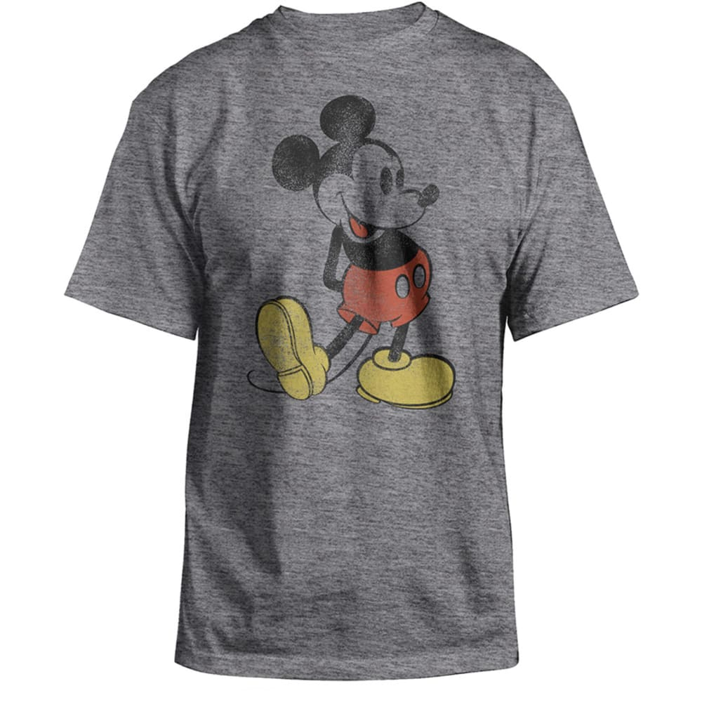 VINTAGE MICKEY Licensed Guys' Graphic Tee- BLOWOUT - CHARCOAL HEATHER