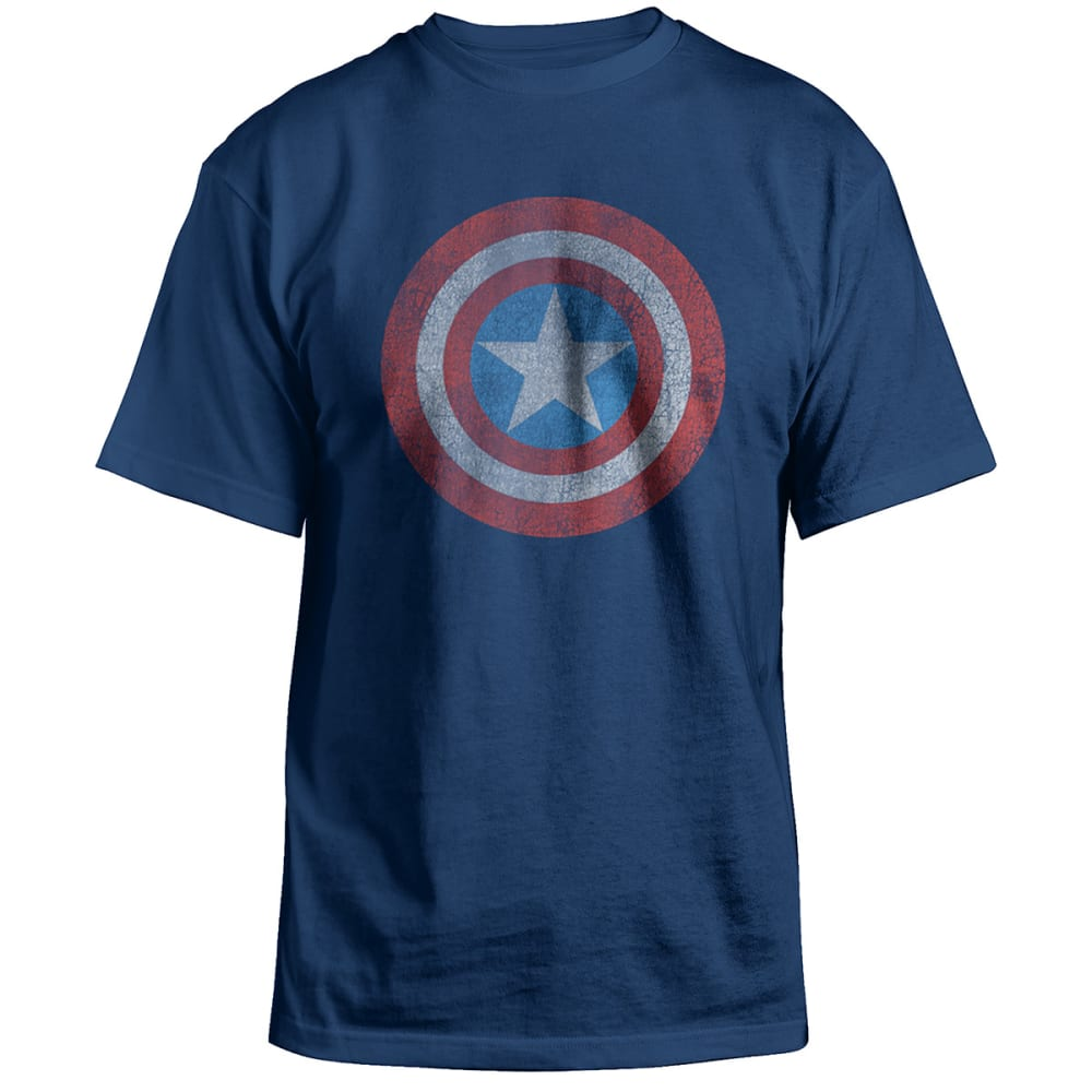 HYBRID Guys' Captain America Tee - BLOWOUT - Blue, S