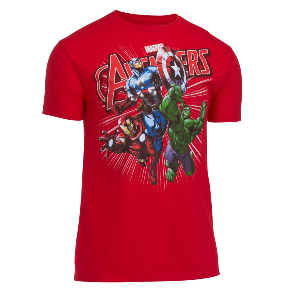 MARVEL Guys' Avengers Tee - PATROL RED
