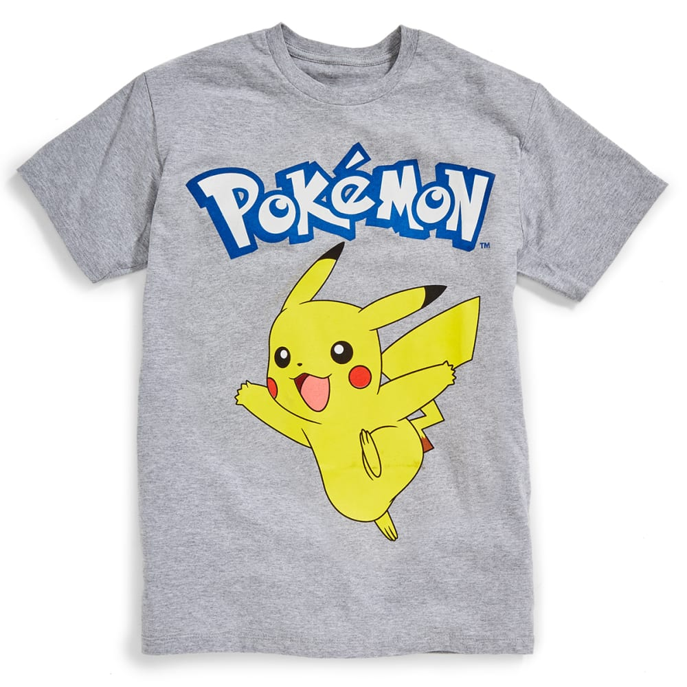 D55 Guys' Pokemon Kika Smile Short-Sleeve Tee - GREY HEATHER