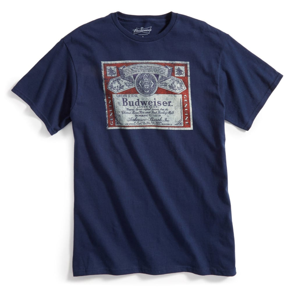 D55 Guys' Budweiser Indigo Short-Sleeve Tee - NAVY HEATHER