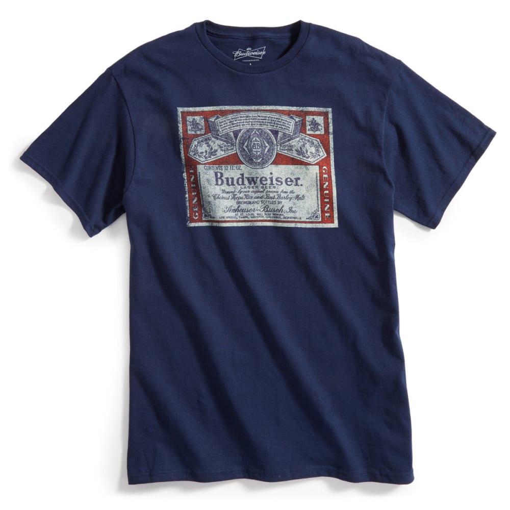 D55 Guys Budweiser Indigo Short-Sleeve Tee - Blue, M