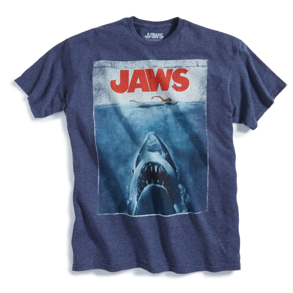 D55 Guys' Jaws Poster Short-Sleeve Tee - NAVY HEATHER