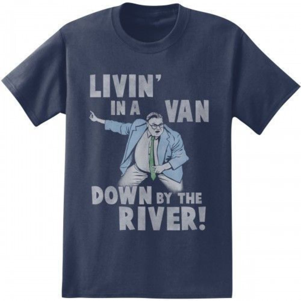 ISAAC MORRIS Guys' Van Down by the River Short-Sleeve Tee - NAVY HEATHER/OXFORD