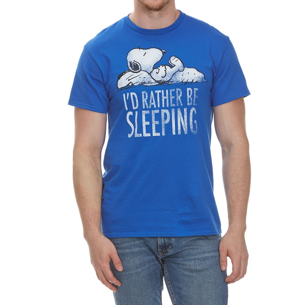 HYBRID Guys' Snoopy I'd Rather Be Sleeping Short-Sleeve Tee - ROYAL BLUE