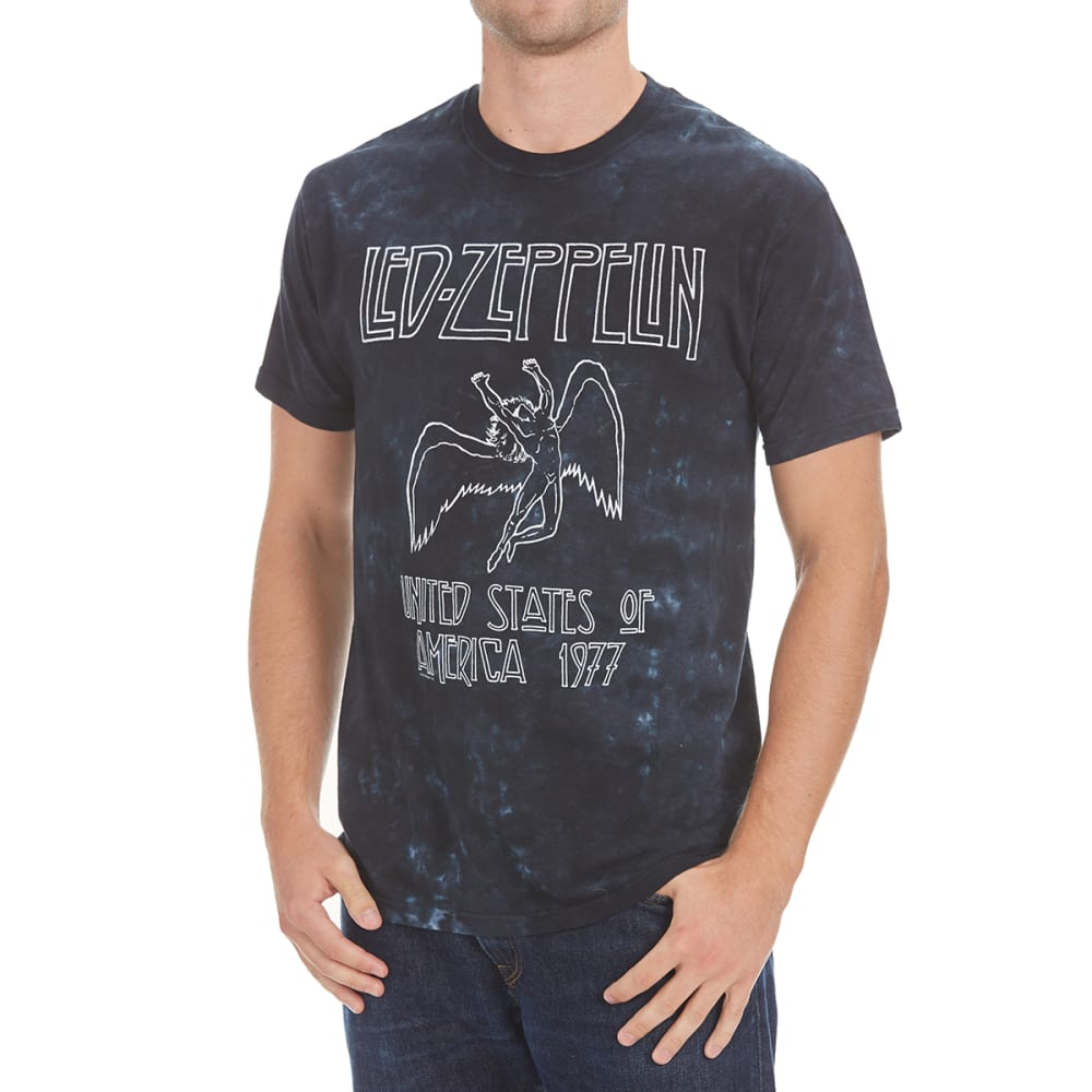 LIQUID BLUE Men's Led Zeppelin Tie-Dye Tee - NAVY