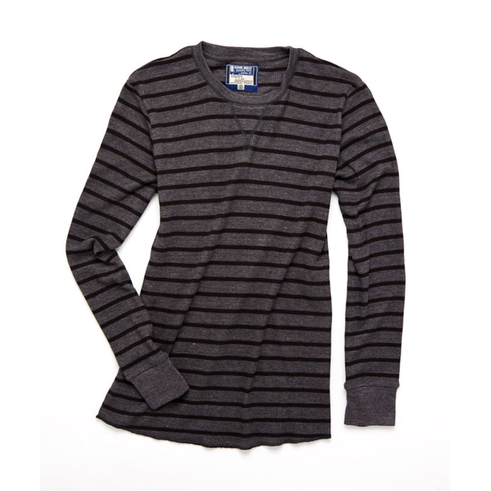 COUNTER INTELLIGENCE Guy's Thermal Pinstripe Crew - CHARCOAL/BLACK