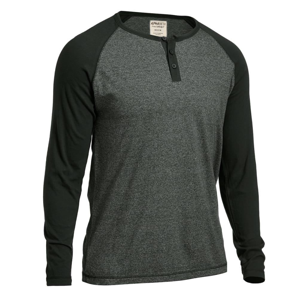 ALPHA BETA Guys' Marled Raglan Shirt - SPRUCE