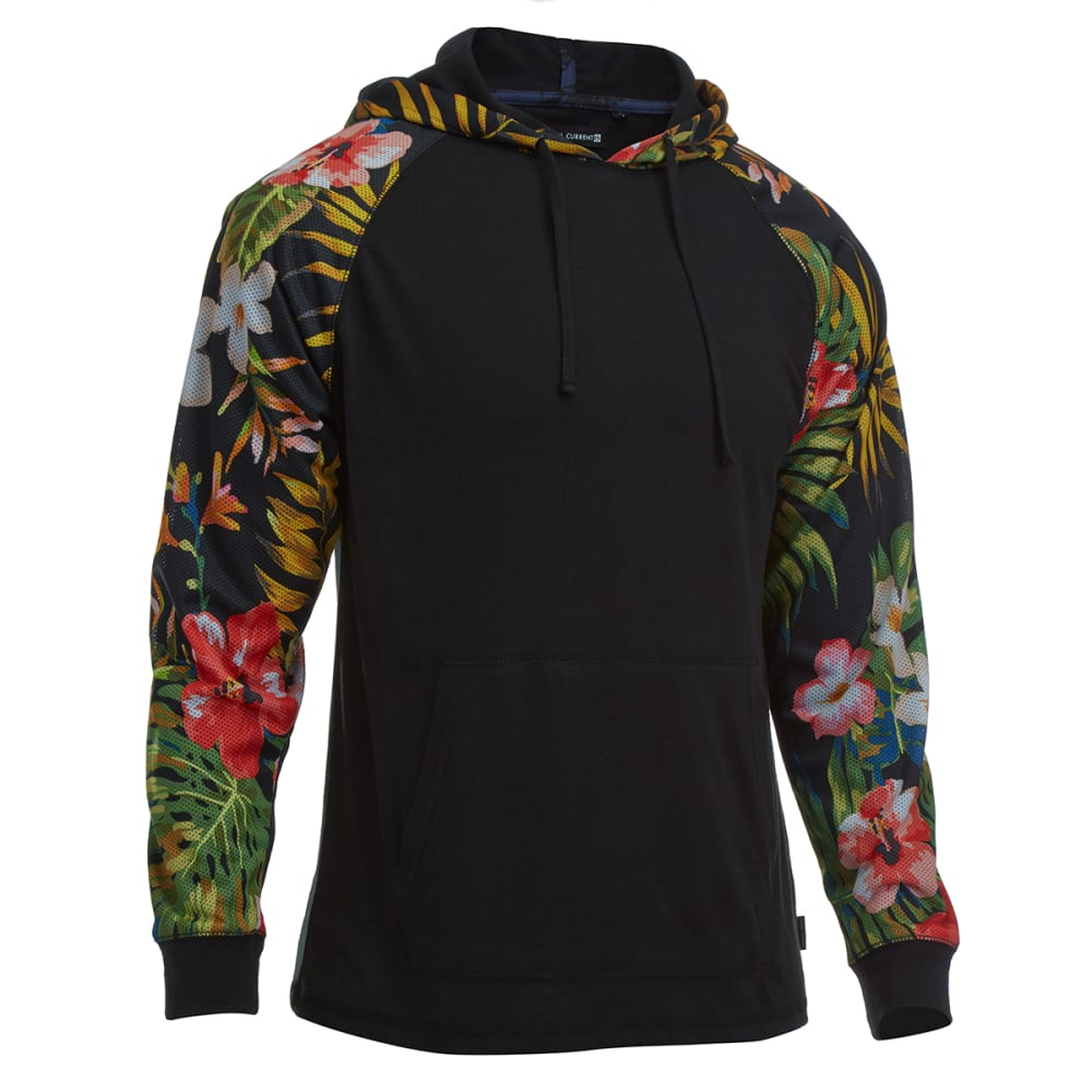 OCEAN CURRENT Guys' Hooded Knit Tropical - BLACK