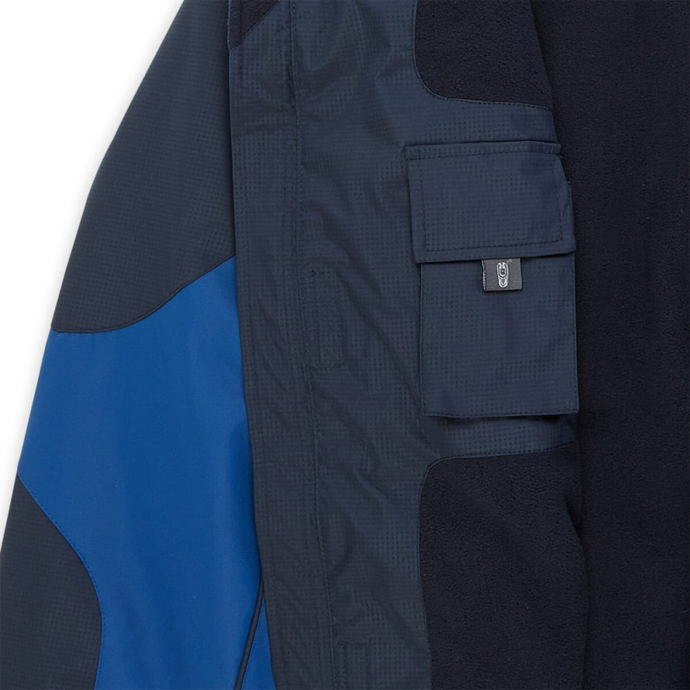 FREE COUNTRY Men's Midweight 3 Tone Jacket - ELECTRIC BLUE