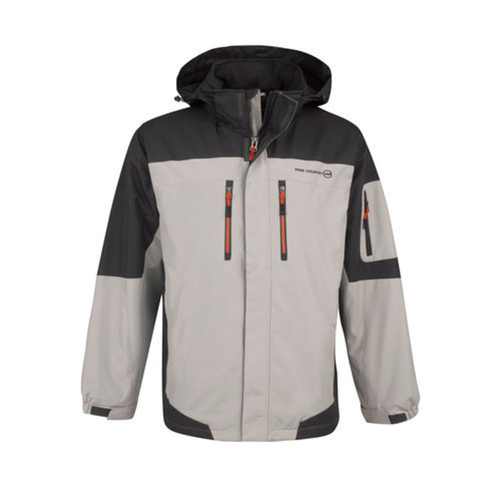 FREE COUNTRY Men's Colorblock Midweight Jacket - ANTI SILVER