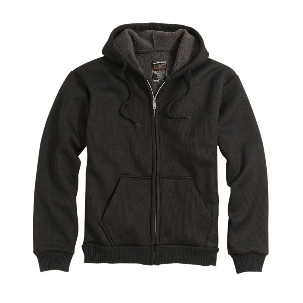 WALNUT CREEK Young Men's Bonded Thermal Hoodie - BLACK/BLACK