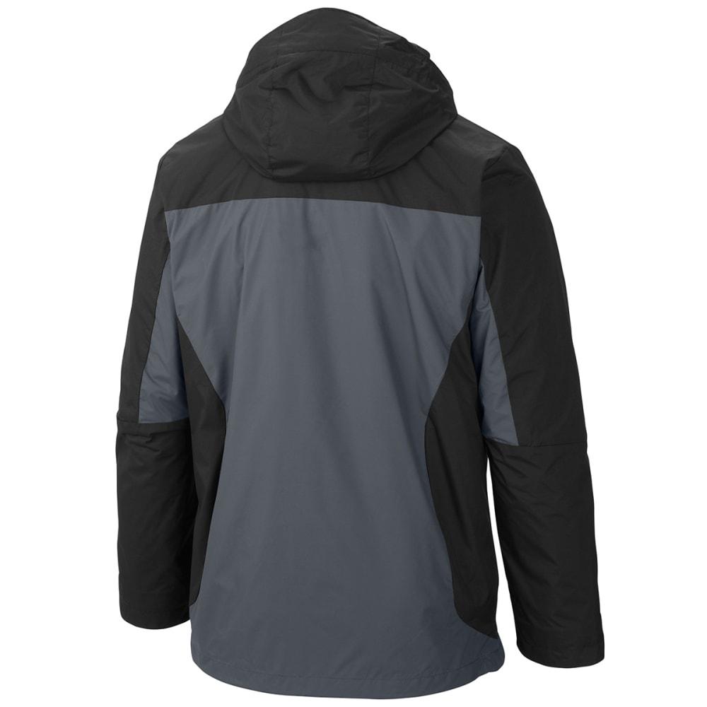 COLUMBIA Men's Eager Air Interchange 3-in-1 Jacket - BLACK/STEEL/TROPICAL
